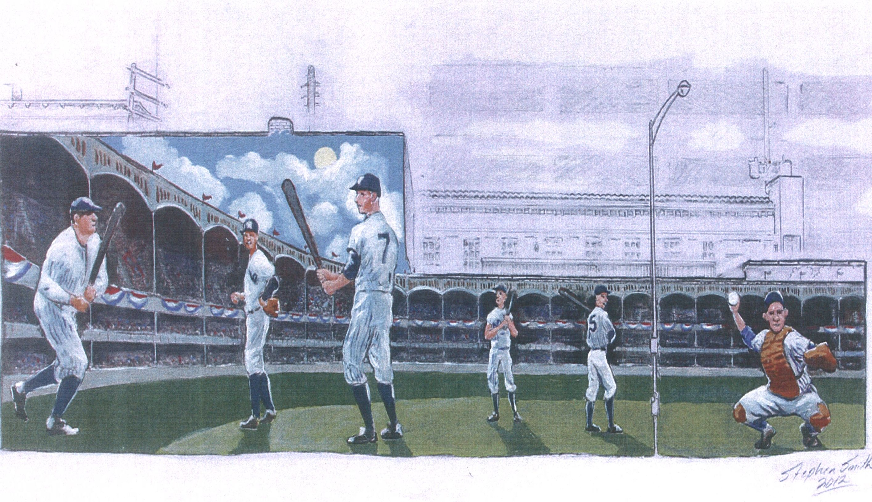 301 moved permanently for Baseball stadium wall mural